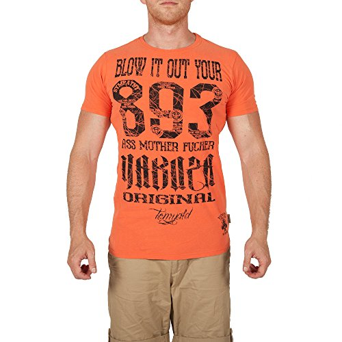 Yakuza Original Herren Blow It Out V02 T-Shirt Camellia