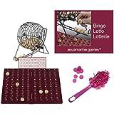 Loteria-Bingo de alta calidad, en madera y metal. 90 bolas de madera maciza. Incluye fichas magneticas de recogida rápida. 51894/39582