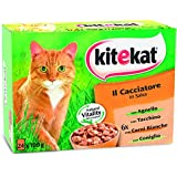 Kitekat Cibo per Gatto, il Cacciatore in Salsa con Agnello, Tacchino, Carni Bianche e Coniglio 12 x 100 g - 4 Confezioni (48