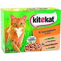 Kitekat Cibo per Gatto, il Cacciatore in Salsa con Agnello, Tacchino, Carni Bianche e Coniglio 12 x 100 g - 4 Confezioni…