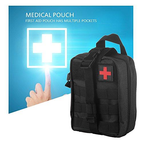 ONEVER Erste-Hilfe-Kit Tactical Survival Kit Molle Rip-Away EMT Tasche Tasche IFAK Medical f¨¹r Notfall Taktische Situation -Schwarz (Emt Erste-hilfe-kits)
