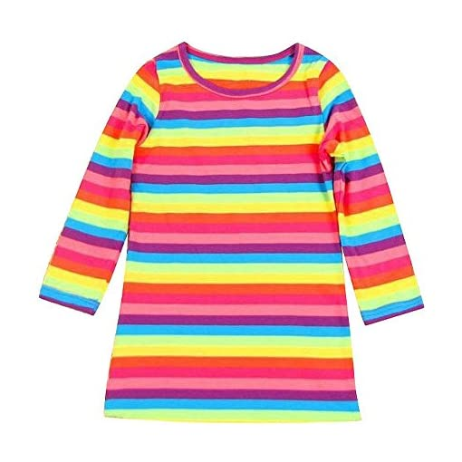 Brightup-Kids-Baby-Girls-Long-Sleeve-Rainbow-Striped-Dress-2-11Y
