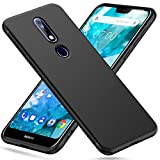 Peakally Nokia 7.1 Case, Black TPU Cover Phone Case Matte