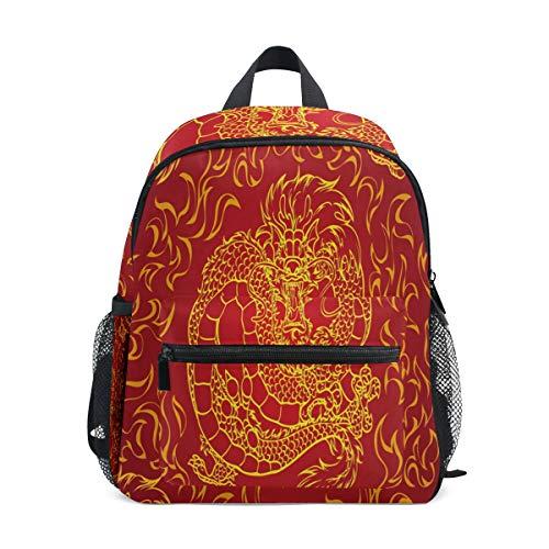Kinderrucksack, Leichte Vorschule Tasche f¨¹r Kinder M?dchen Jungen, Asian Dragon Design Tasche