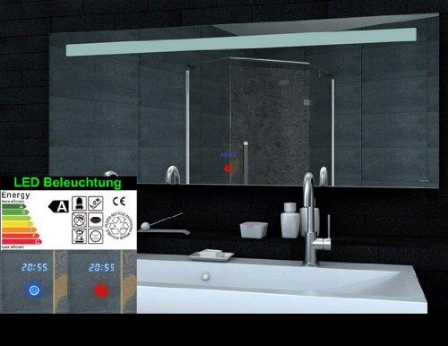NEU RMI Multimedia Spiegel mit Bluetooth, Uhr, Touchschalter (160x65) - 2