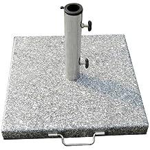 Papillon 8091085 - Base de granito para sombrilla, 20 kg, 400 x 400 mm