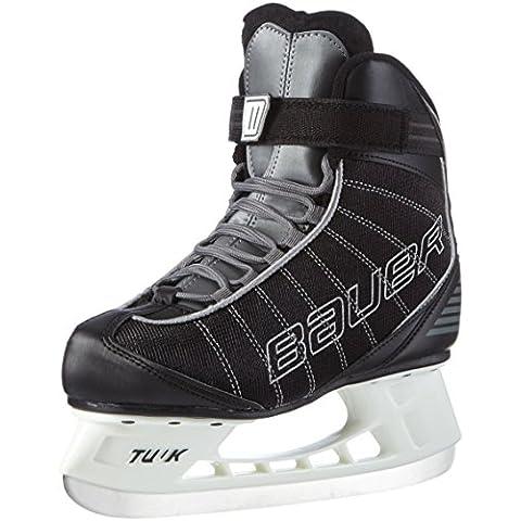 Bauer Erwachsene - Patines de hockey sobre hielo, color negro, talla DE: 9