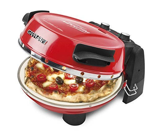 Preisvergleich Produktbild G3Ferrari G10032 All in One Express Pizza Oven Plus with Dual Refractory Cooking Stones 1200w in Red by G3Ferrari