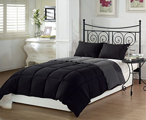 chezmoi-collection-3-piece-black-grey-super-soft-goose-down-alternative-reversible-comforter-set-kin
