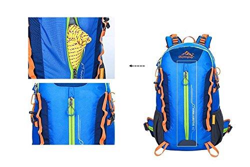 LQABW Outdoor-Nylon Oxford Tuch Wasserdichtes Haltbarer Rucksack-Spielraum-Climbing Leichte Rucksack Breatherdbebensicher Reduzierte Tasche 55L Black
