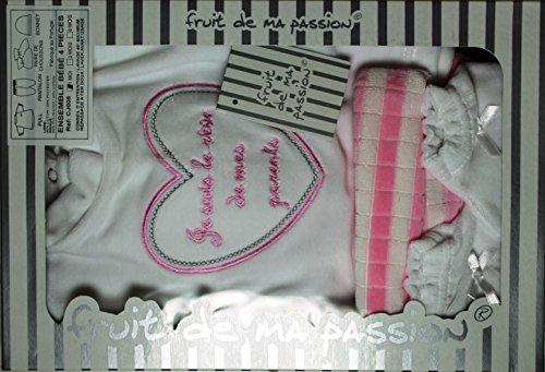 Cofanetto nascita bambino, da 0 a 3 mesi, 4 pezzi, idea regalo per nascita maternità CN4PVL BCRSBON