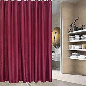 burgundy shower curtain sets. solid burgundy shower curtains, polyester curtain for bathroom with metal grommets,non- sets