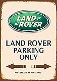 Land Rover Parking only blechschild auto motorrad park schild
