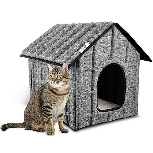La casa para gatos plegable para exteriores PUPPY KITTY es fácil de limpiar y de montar. Viene con un colchón extraíble, gato, conejo, tamaño 52 x 42.5 x 42 cm.                      ¿Por qué elegir nuestra casa para gatos?       1. En comp...