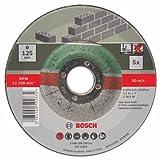 Bosch 2609256335 DIY Trennscheiben Stein 125 mm ø x 2.5 mm gekröpft (5er Pack) - 2