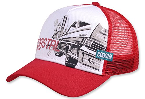Coastal Cap HFT SURF & CARS & CHICKS deep red