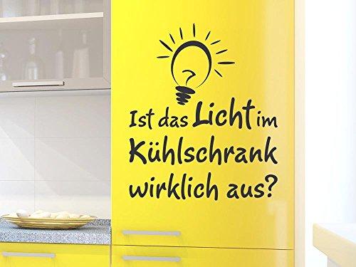 839 Ein Licht (Kühlschrank Aufkleber Wandtattoo Tattoo für Küche Ist das Licht Spruch (108x90cm // 839 lagoon blue))