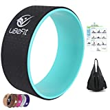 uBeFit Yoga Wheel with eBook and Carry Bag - Yoga Prop for Improving Backbends and Yoga Poses - Excellent For Stretching, Improving Your Flexibility, Balance and Strength