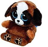 Carletto Ty Pups - Hund, 15cm, mit Glitzeraugen, Peek-A-Boos, Smartphonehalter