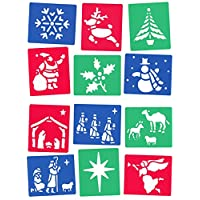 2to5 12 Washable Stencils Christmas and Nativity Themes 13cm x 15cm