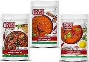 iPaaka Starter Pack - Small (Tomato Dal Rasam + Idli Sambhar Mix + Brinjal Curry Mix) (300)