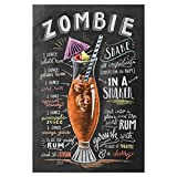 artboxONE Poster 30x20 cm Zombie Cocktail von Künstler Lily & Val