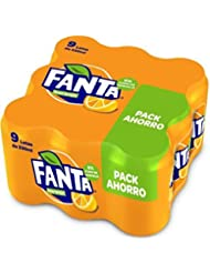 Fanta - Naranja, Refresco con gas, 330 ml (Pack de 9),