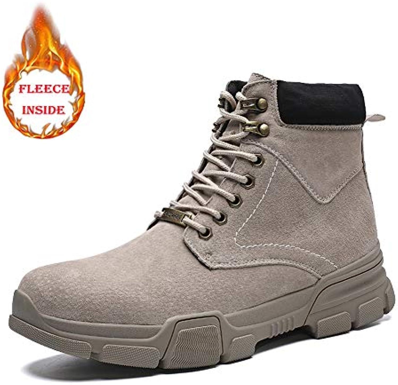 SHENNANJI Stivali da Lavoro da Uomo Stivali alla Caviglia da Uomo Casual Stivali Alti con Tomaia in Pizzo | Export  | Scolaro/Signora Scarpa