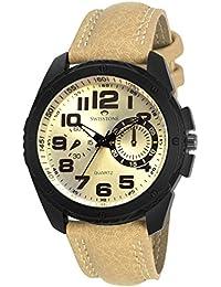 SWISSTONE G1005-TAN Leather Strap Analog Wrist Watch For Men/Boys