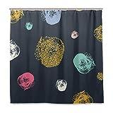 Stoff Badezimmer Duschvorhang Gold Glitzer Wasserfest und schimmelfest Polyester Stoff mit 12 Kunststoffhaken 180 x 180 cm (72 x 72 Zoll)
