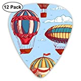 Comic Hot Air Balloon 351 Shape Classic Celluloid Guitar Pick For Electric Acoustic Mandolin Bass (12 Count)