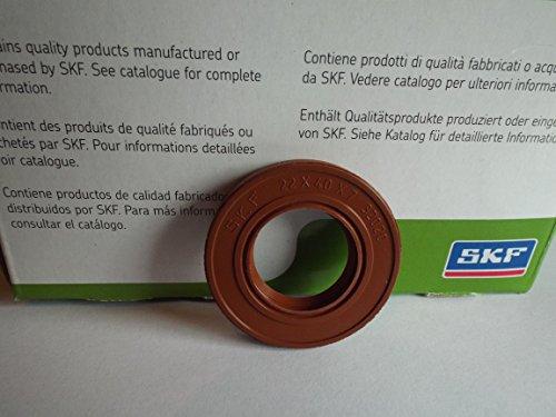 Viton Oil Seals (22x 40x 7mm Doppel Lip Oil Seal SKF Viton R23/TC Viton Gummi Edelstahl Strumpfband Spring)