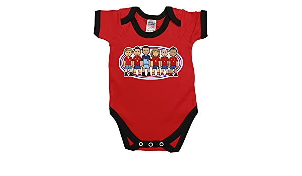 VIPwees Babygrow Spain Football Legends Boys /& Girls Baby Bodysuit