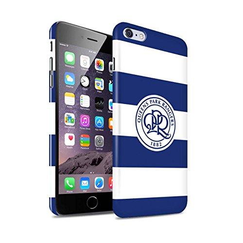 Officiel Queens Park Rangers FC Coque / Clipser Brillant Etui pour Apple iPhone X/10 / Bleu Royal Design / QPR Crête Club Football Collection Hoops/Bleu Marine