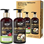 WOW Apple Cider Vinegar Shampoo and Organic Virgin Coconut oil plus Avacado Oil Conditioner- WOWsome Twosome N