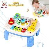 ACTRINIC Musikalische Lerntisch Baby Spielzeug ab 6 bis 12 Monate -Musik Aktivitätszentrum Spieltisch Kleinkinder Spielzeug für 1 2 3 Jahre alt - Verschiedene Beleuchtungen und Klingen