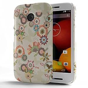 Koveru Designer Printed Protective Snap-On Durable Plastic Back Shell Case Cover for Motorola Moto E - Sunshine