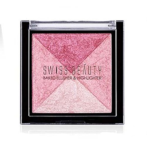 Swiss Beauty 2 Baked Blusher & Highlighter (7g, ColorSet-03)