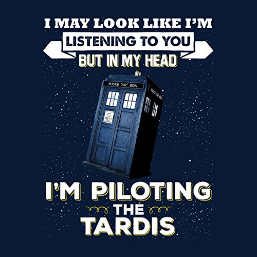 I May Look Like The Tardis Doctor Who Men's Vest Navy Blue