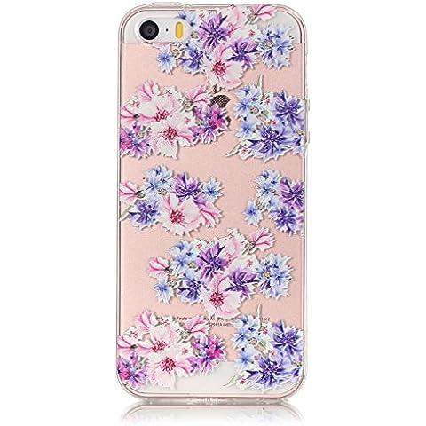 Cozy Hut modelli dipinti Per iPhone SE 5 5S Sottile Case / Cover /Cover Shell / Protettiva Caso / Cover / Protezione Copertura, Custodia Cover Per iPhone SE 5 5S - Floral Fit