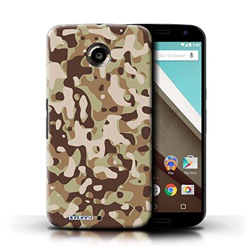 Kobalt® Imprimé Etui / Coque pour Motorola Nexus 6 / Blanc 1 conception / Série Armée/Camouflage Marron 3