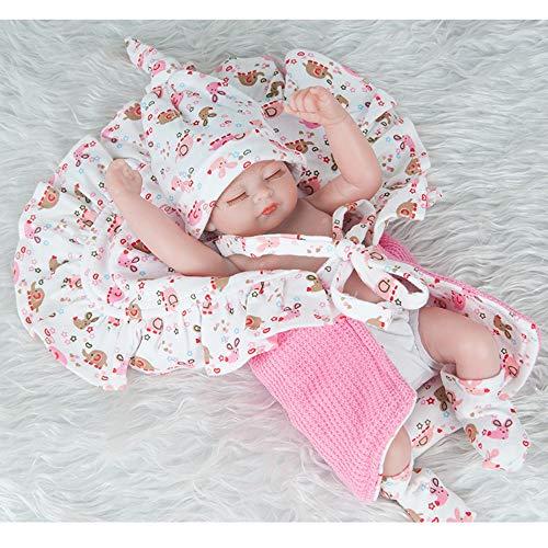 Silikon Dolls 11 Zoll 28cm wiedergeborene Baby Kleine Größe FullAlive Lifelike Real Dolls Mini Realistic Reborn Babies Girl Toys Geburtstagsgeschenk