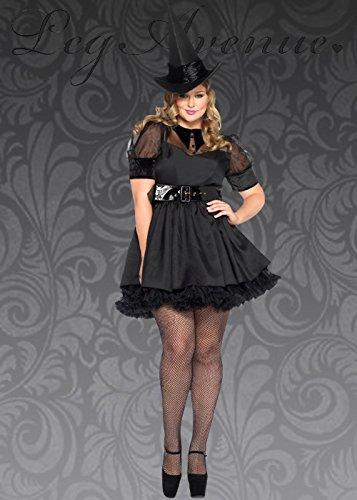 Damen Plus Size Classy Black Bezauberndes Hexen Kostüm 3X/4X (UK (Halloween Plus Kostüme Size 3x)