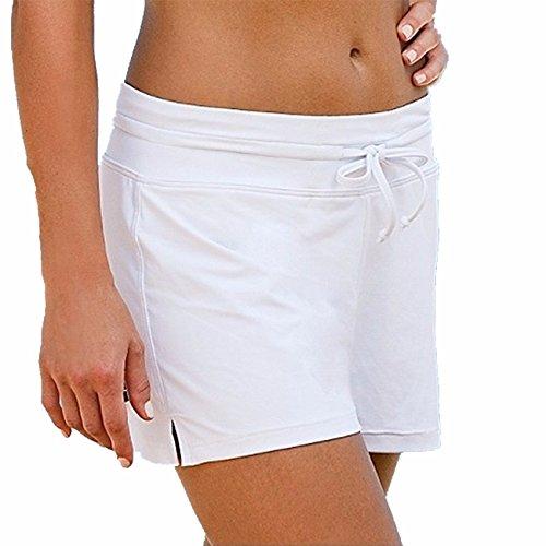 Mujer Nadando Pantalones cortos Muchacho Bikini Fondo Ajustable Tankini Bikini Bottom Trajes de baño Ropa de playa