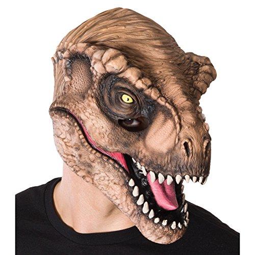 Kostüm Kichert - Jurassic World T. Rex Adult 3/4 Vinyl Mask