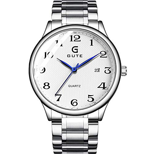 Reloj de Cuarzo para Hombre con Pantalla analógica y Pulsera de Acero Inoxidable