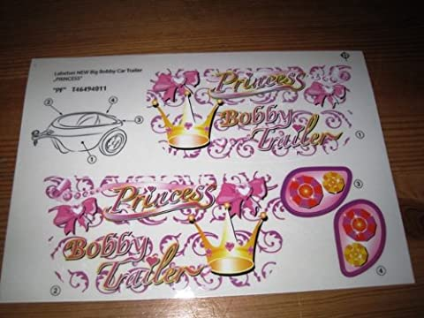 Big Stickersatz Aufkleber Anhänger Trailer Princess