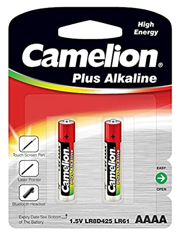 Camelion Pack of 2 Alkaline Batteries LR61 AAAA MN 2500