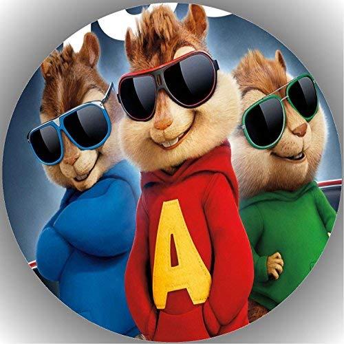 Fondant Tortenaufleger Tortenbild Geburtstag Alvin und die Chipmunks T3