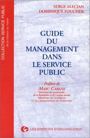 Guide du management dans le service public